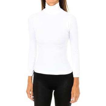 textil Mujer Camisetas manga larga Intimidea Camiseta manga larga Colorado Blanco