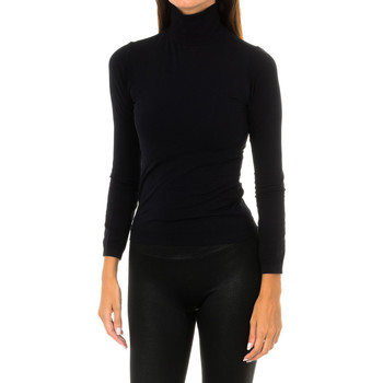textil Mujer Camisetas manga larga Intimidea Camiseta manga larga Colorado Negro