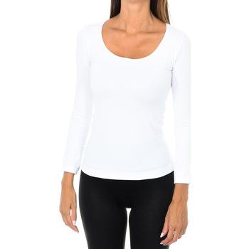 textil Mujer Camisetas manga larga Intimidea Camiseta manga larga Dakota Blanco
