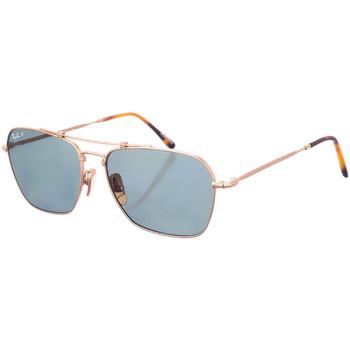 Relojes & Joyas Gafas de sol Ray-ban Gafas  Caravan Oro