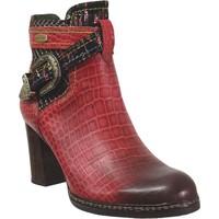 Zapatos Mujer Botines Laura Vita Elceao 231 Rojo