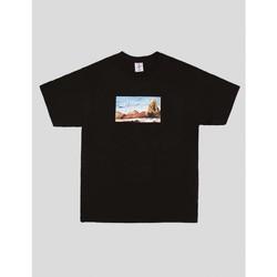 textil Hombre Camisetas manga corta Alltimers CAMISETA  SPLASH TEE BLACK Negro