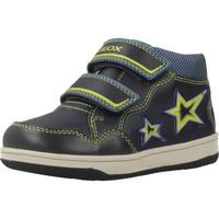 Zapatos Niño Zapatillas altas Geox B NEW FLICK BOY Azul