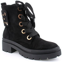 Zapatos Mujer Botines Voga L Ankle boots Military Negro