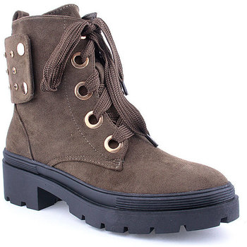 Zapatos Mujer Botines Voga L Ankle boots Military Verde