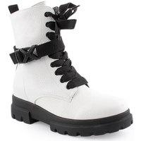 Zapatos Mujer Botas de caña baja Lapierce L Ankle boots Military Blanco