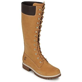 Zapatos Mujer Botas urbanas Timberland WOMEN'S PREMIUM 14IN WP BOOT Cognac