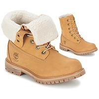 Zapatos Mujer Botas de caña baja Timberland AUTHENTICS TEDDY FLEECE WP FOLD DOWN Cognac / Claro