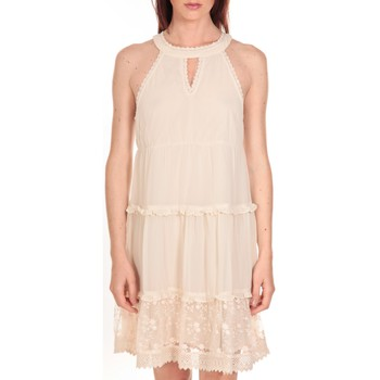 textil Mujer Vestidos cortos Vero Moda Robe New Dina Ecrue LOVELY SS TOP PP Beige