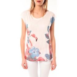 textil Mujer camisetas manga corta Little Marcel T-shirt E15FTSS0231 Tibali Rose poudre Rosa