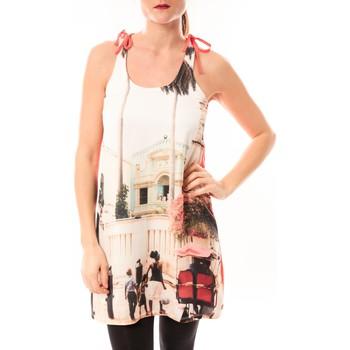 textil Mujer vestidos cortos Little Marcel Robe Risima E15FDRE0314 Rose Corail Rosa