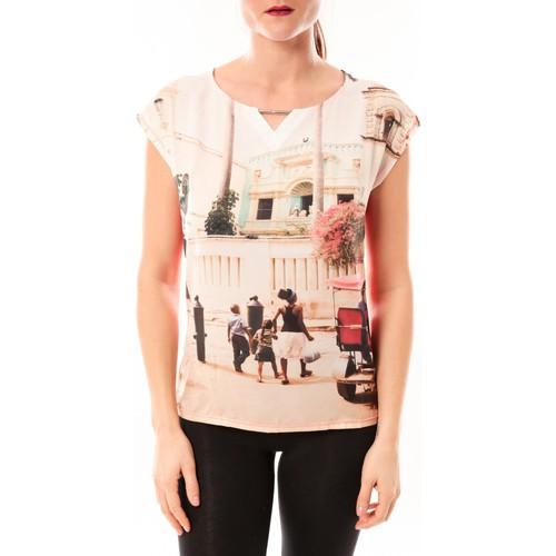 textil Mujer Camisetas manga corta Little Marcel Tee-shirt Trisi E15FTSS0333 rose corail Rosa
