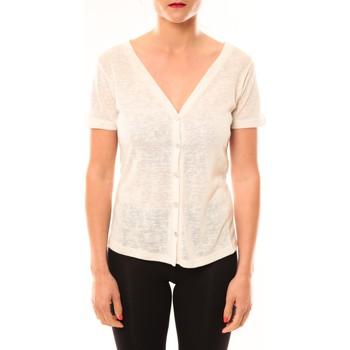 textil Mujer Camisetas manga corta Meisïe Top 50-608SP14 Écru Beige