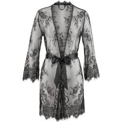 textil Mujer Pijama Lascana Kimono Temptation Pearl Black