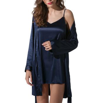 textil Mujer Pijama Luna Kimono satin Prestige Azul