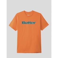 textil Hombre Camisetas manga corta Butter Goods CAMISETA  WORDMARK TEE ORANGE Naranja
