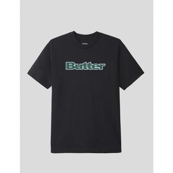 textil Hombre Camisetas manga corta Butter Goods CAMISETA  WORDMARK TEE BLACK Negro
