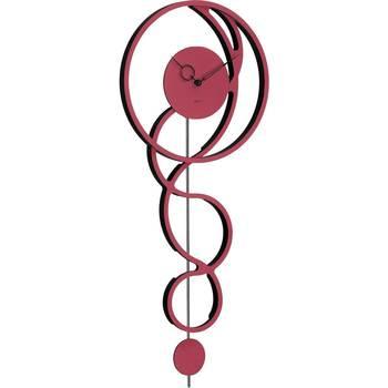 Casa Relojes Hermle 61023-362200, Quartz, Red, Analogue, Modern Rojo
