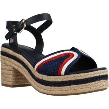 Zapatos Mujer Sandalias Tommy Hilfiger TH ARTISANAL MID HEEL SA Azul