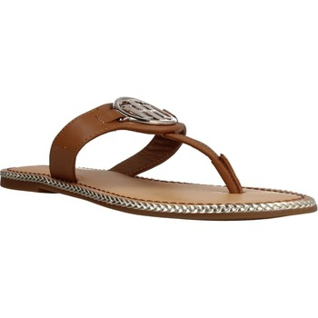 Zapatos Mujer Sandalias Tommy Hilfiger ESSENTIAL LEATHER FLAT S Marron