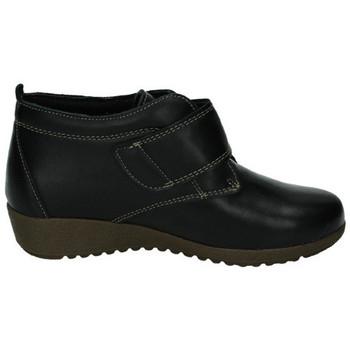 Zapatos Mujer Botas de caña baja 48 Horas Botines de piel NEGRO