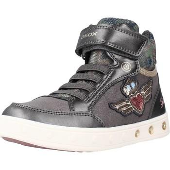 Zapatos Niña Zapatillas altas Geox J SKYLIN GIRL Gris