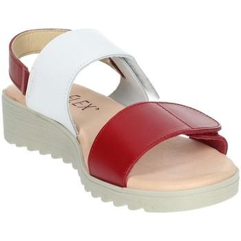 Zapatos Mujer Sandalias Novaflex BASILIANO Blanco/Rojo