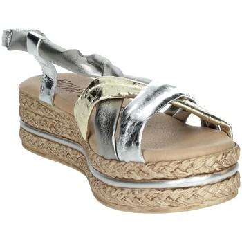 Zapatos Mujer Sandalias Novaflex BARASSO Plata/Oro