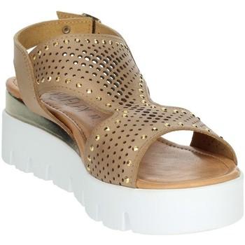 Zapatos Mujer Sandalias Novaflex AGRATE Marrón cuero