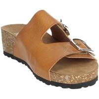 Zapatos Mujer Zuecos (Mules) Novaflex AFRICO Marrón cuero