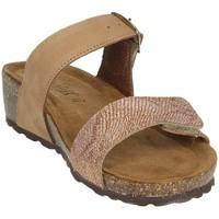 Zapatos Mujer Zuecos (Mules) Novaflex ANDEZENO Marrón cuero