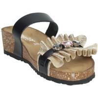 Zapatos Mujer Zuecos (Mules) Novaflex ADRANO Negro/Oro