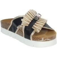 Zapatos Mujer Zuecos (Mules) Novaflex ACRI Negro/Oro