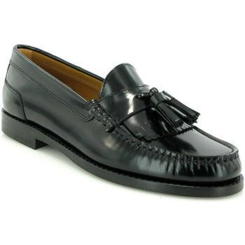 Zapatos Mujer Derbie Atlanta Mocassin Mocasines Sarah en piel con borla Negro