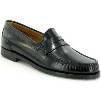 Zapatos Mujer Derbie Atlanta Mocassin Mocasines Sarah de piel Negro
