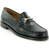 Zapatos Mujer Derbie Atlanta Mocassin Mocasines Sarah en piel con hebilla Negro