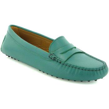Zapatos Mujer Derbie Atlanta Mocassin Drivers Michèle de piel granulada Verde