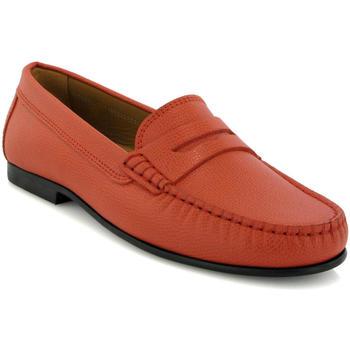 Zapatos Mujer Derbie Atlanta Mocassin Mocasines Yoki en piel granulada Naranja