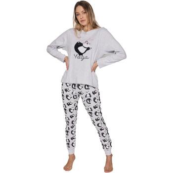 textil Mujer Pijama Admas Panda Yoga GRIS JASPE