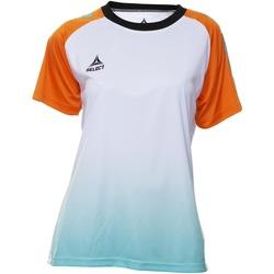 textil Mujer Camisetas manga corta Select T-shirt femme  Player Femina orange/blanc/vert