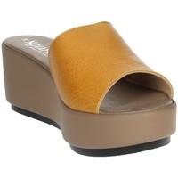 Zapatos Mujer Zuecos (Mules) Novaflex ACQUAPPESA Mostaza
