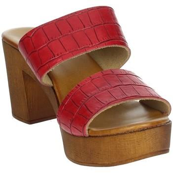 Zapatos Mujer Zuecos (Mules) Novaflex ACQUAFONDATA Rojo