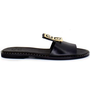 Zapatos Mujer Zuecos (Mules) Exé Shoes SANDALIA PALA BLACK CON DETALLE GEOMÉTRICO EXE 838 IRENE Color Negro