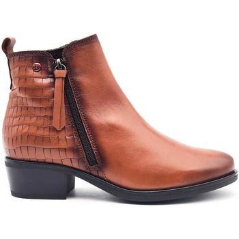 Zapatos Mujer Botines Pepe Menargues 20403 Marrón