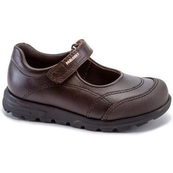 Zapatos Niña Bailarinas-manoletinas Pablosky Colegiales Merceditas de piel by Marron