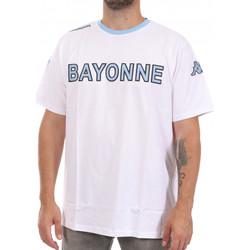 textil Hombre Camisetas manga corta Kappa  Blanco