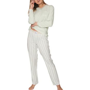 textil Mujer Pijama Admas Pyjama tenue d'intérieur haut et pantalon longs Classic Verde Oscuro