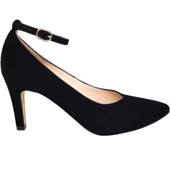 Zapatos Mujer Zapatos de tacón Gennia Salones Tacon Fino Mujer Punta Fina Hebilla Piel Negro -MESHORT Negro