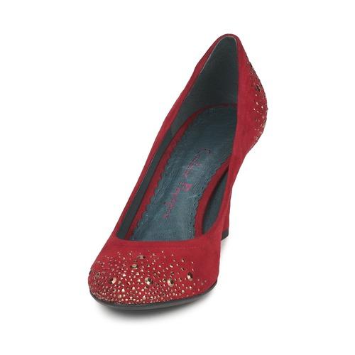 Rojo Mujer De Gen Couleur Pourpre Tacón Zapatos 35qc4AjLR