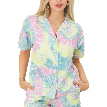 textil Mujer Camisas Vans WM SPIRALING SS WOVE Multicolor